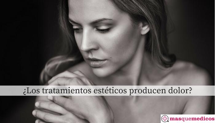 dolor en tratamientos estéticos