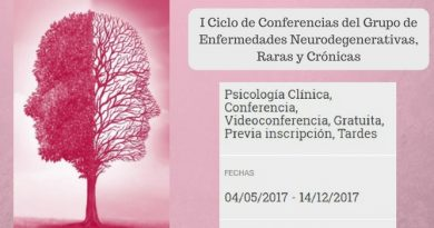 I Ciclo de Conferencias del Grupo de Enfermedades Neurodegenerativas, Raras y Crónicas