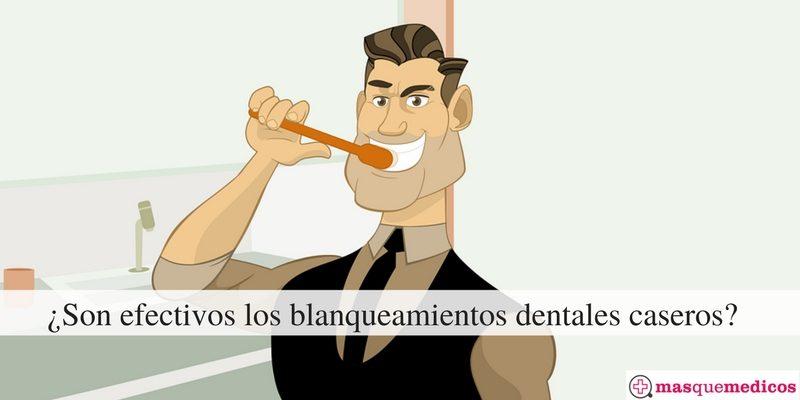 ¿Son efectivos los blanqueamientos dentales caseros-