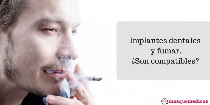 implantes dentales y fumar