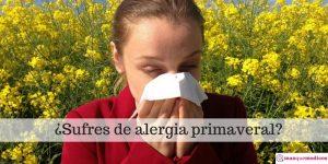 Cómo sobrellevar las alergias primaverales