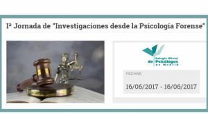 I Jornada de Investigaciones desde la Psicología Forense