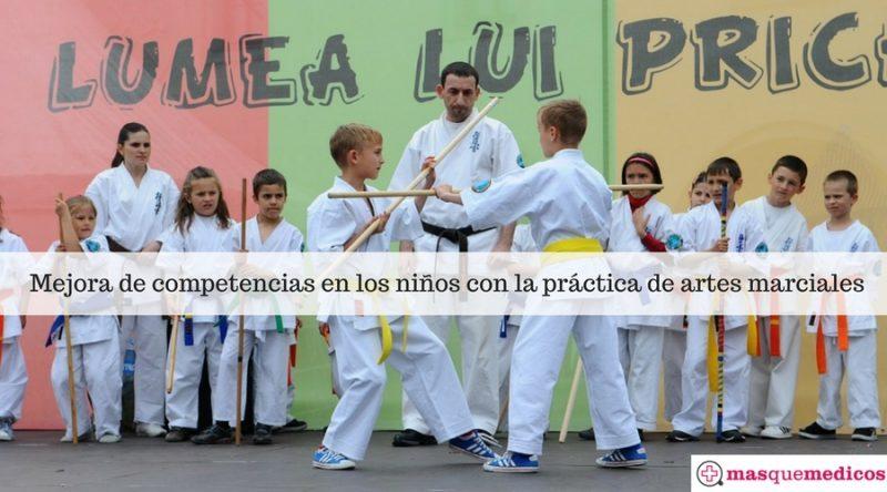Mejora de competencias en los niños con la práctica de artes marciales