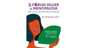 X Fórum Mujer y Menopausia. 27 y 28 de octubre
