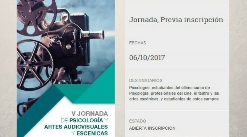 jornada psicologia y artes audiovisuales y escénicas