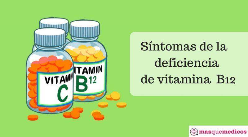 Síntomas de la deficiencia de vitamina B12