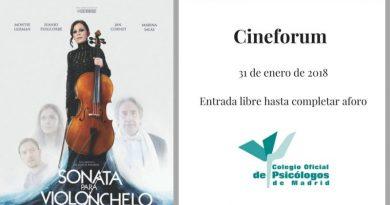 Cineforum sonata para violonchelo colegio psicologos madrid
