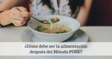 ¿Cómo debe ser la alimentación después del Método POSE