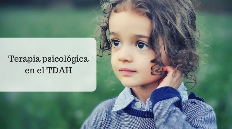 Terapia psicológica en el TDAH