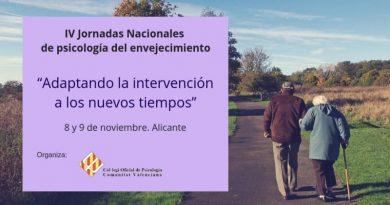 IV Jornadas Nacionales de psicología del envejecimiento