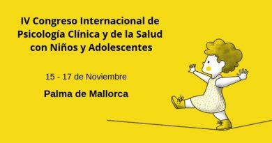 IV Congreso Internacional de Psicología Clínica y de la Salud con Niños y Adolescentes