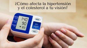 ¿Cómo afecta la hipertensión y el colesterol a tu visión?